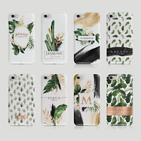 Personalised Initials iPhone Samsung Hard Phone Case Palm Spring Cactus Tropical