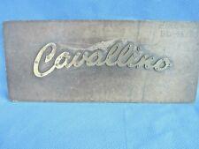 Vintage Pantograph Template Advertising Firestone Cavallino Tire Brass Sign Dc2