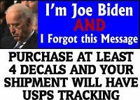 "SLEEPY JOE BUMPER STICKER, ANTI JOE BIDEN ANTI DEMOCRAT Bumper Sticker 8.7"" x 3"""