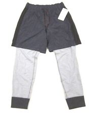 NWT Mens Lululemon One Two Jogger Pants 2 in 1 Shorts and Sweats Herringbone S
