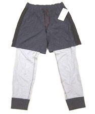 nwt herren lululemon einszwo jogger hose 2 in 1 shorts und sweats fischgrät xl