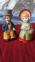Vintage Jasco Porcelain Bisque Bells:  Victorian Couple, 1978