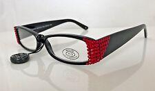 Jimmy Crystal Light Siam Swarovski Crystal Reading Glasses, +1.50 Lens, JCR124