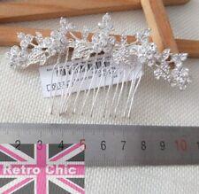 Ventilador de estilo vintage retro perla Rhinestone Cristal Peine de Cabello diapositiva//Pin nupcial