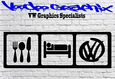 Corpo auto furgone Volkswagen Sticker Vinyl Decal VW Golf T6 T5 T4 Camper Surf