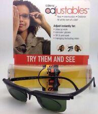 ADLENS SUNDIALS Adjustables Sunglasses Rx range +3.00 to -6.00 Black /Green Lens