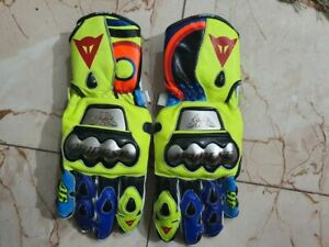VR46 Rossi daines Motorcycle Leather Race Gloves Size M