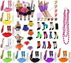 80's Fancy Dress Hen Party Neon TuTu Skirt Leg Warmer Dance Fishnet Top Gloves