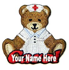 Teddy Bear Nurse Custom Iron-on Patch With Name Personalized Free