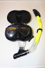 TDS Dive/Snorkel Mask - Black with Dry Yellow Snorkel- Model 99-6 Free Case!