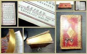1717 1st (BIBLE) Book of Common Prayer (ENG.) 500pp RED-RULED Leather J. BASKETT