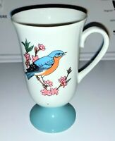 """Fred Roberts Vintage Bluebird Mug Footed Excellent Condition 5 1/2"""" X 3"""""""