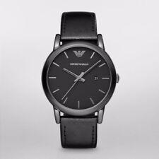Emporio Armani AR1732 Classic Watch Black Leather Analog Quartz Men's Watch