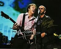 BEATLES 8X10 SIGNED PAUL MCCARTNEY RINGO STARR PROFESSIONAL PHOTO CONCERT  222