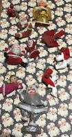 Antique Vintage Christmas Decorations Ornaments Lot - Santa,Snoopy,Angel,Bird