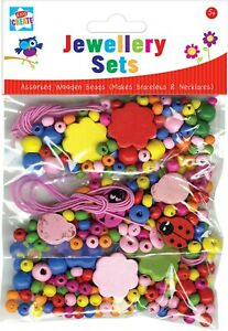 Assorted Wooden Bead Make Your Own Bracelets and Necklace By Kids Create Fun UK