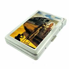 German Pin Up Girls D3 Cigarette Case with Built in Lighter Metal Wallet