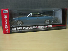 1969 Dodge Charger 500 Custom 1:24 Die-Cast Auto World 2015 Muscle Car #AW24005