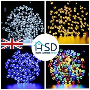 Solar Powered Garden Lights LED Fairy String Xmas Party Decor Garden Outdoor UK