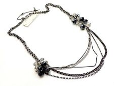 Kenneth Cole Layer Necklace $58 Pewter Tone Chains Beads New! NWT