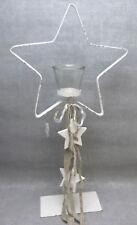 Formano Teelichthalter Stern Weihnachten Metall auf Fuß 60 cm Glaseinsatz Sterne