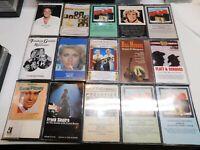 Cassette Lot of 15 Oldies Gene Pitney Flatt Scruggs Sinatra Murray Olivia  #1
