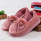 Ladies Winter Fur Slippers Indoor Home Shoes Loafers Solid Patterned Accessories