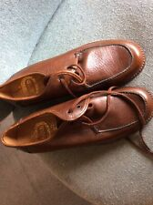 Mens Vintage Lotus Shoes Tan Leather Lace Up UK 8.5 Unworn