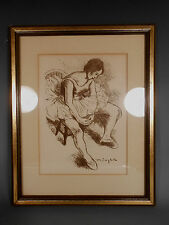 Original Lithograph ''BALLERINA'' by Moses SOYER w/ Certificate of Authenticity
