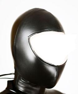 Suffocating Slave Mask Original Genuine Leather HoodCosplay Cuir Leder Halloween