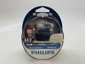 OPEN BOX H7 Philips Racing Vision Halogen Headlight Bulbs 1 Set MC142