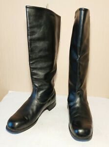 Soviet Russian Military Uniform Officer Leather Boots Chrome Size 41 MIDDLE Ok !