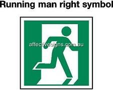 Running Man Right Exit Sign Safety Signs Australian Made Quality Printed Sign