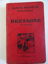 Ancien Guide Rouge Michelin régionaux Bretagne  1929/1930 3ème EDITION