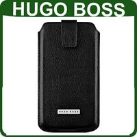 Genuine HUGO BOSS LEATHER CASE HTC ONE S X original wallet cover phone pouch