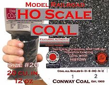 HO Scale Coal #20 For Model Railroad Hopper Loads Athearn Atlas Bowser Walthers