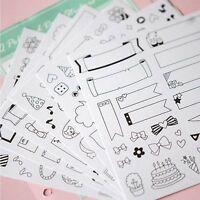 Paper Sticker Scrapbook Calendar Diary Planner DIY Sticky Photo Album Decor