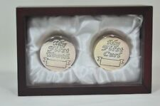 Baby's Rosewood Finish Keepsake Box with 1 First Tooth Box and 1 First Curl