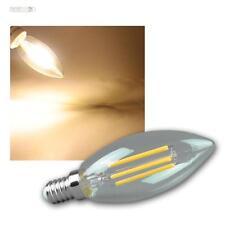 5 Piezas Bombilla de Luz Led E14 Filamento K4 360lm Blanco Cálido Lámpara Velas