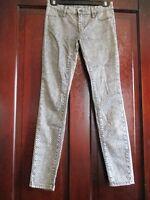Blankyc Girl's Size 26 Polka Dot Glitter Black and White Jeans Pants
