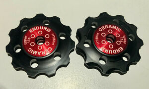 Shimano 11T Enduro Zero Ceramic Jockey Pulleys, 11-S, DA, Ultegra, Black Delrin