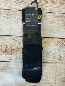 Stance MLB Diamond Pro Armed Forces Crew Socks US Youth Size Large 2-5.5Y