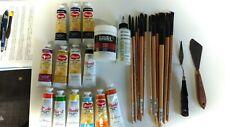 Princeton catalyst acrylic/Oil Paint Brushe- Golden Acrylic Paint- Acrylic Paint