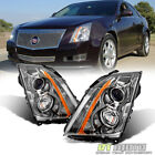 2008-2014 Cadillac CTS CT-S Headlights Halogen Headlamps Replacement Left+Right  for sale