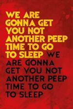 POSTER Time to Go to Sleep The Evil Dead Film Quote Betsy Baker Linda
