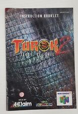 Turok 2 Seeds of Evil - Nintendo 64 AU PAL Original VGC Condition - MANUAL ONLY