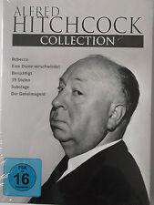 6x Alfred Hitchock - Sabotage, Rebecca, Berüchtigt, 39 Stufen, Dame - Collection