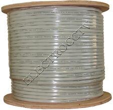 WHITE 1000FT BULK RG59 SIAMESE CABLE CCTV SECURITY CAMERA WIRE Bare Copper