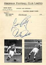 HIBERNIAN FC FAMOUS 5 LEGENDS LAWRIE REILLY & GORDON SMITH SIGNED (PRINTED)