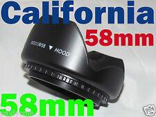 58mm Screw Mount Flower Lens Hood Crown 4 Canon Nikon Sony Sigma Pentax Olympus